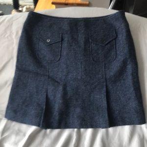 Searle Blue Wool Skirt